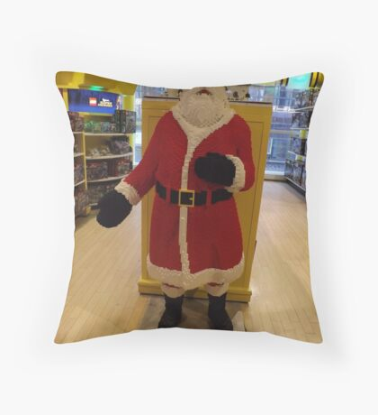 Lego Santa Claus, FAO Schwarz Toystore, New York City Throw Pillow