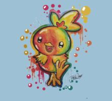 Cute Torchic Spraypaint Tshirts + More! ' Pokemon ' Kids Clothes
