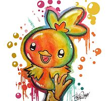 Cute Torchic Spraypaint Tshirts + More! ' Pokemon ' by Jonny2may