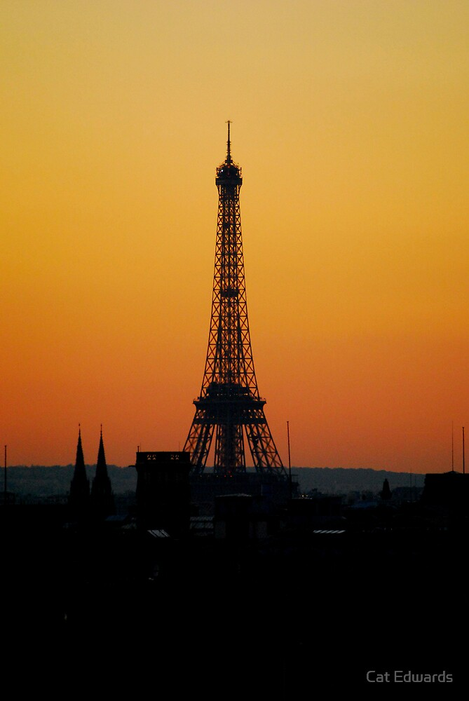 The Eiffel Tower at Sunset by Cat Edwards