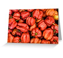 Red Habanero Peppers Greeting Card
