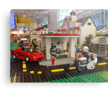 Lego Gas Station, FAO Schwarz Toystore, New York City Metal Print