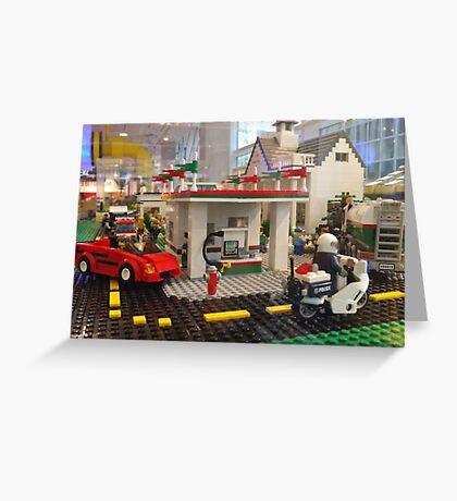Lego Gas Station, FAO Schwarz Toystore, New York City Greeting Card