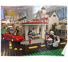 Lego Gas Station, FAO Schwarz Toystore, New York City Poster