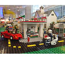 Lego Gas Station, FAO Schwarz Toystore, New York City Photographic Print