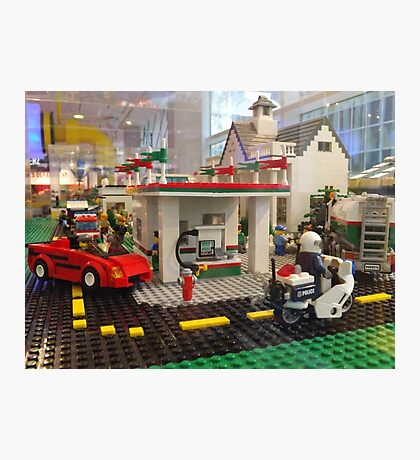 Lego Gas Station, FAO Schwarz Toystore, New York City Photographic Print