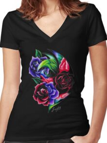 The scent of Roses Roses Roses Women's Fitted V-Neck T-Shirt