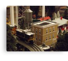 Lionel Model Trains, Model Village, FAO Schwarz Toystore, New York City Canvas Print