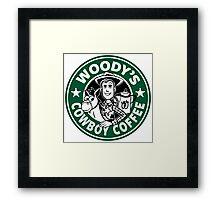 Woody's Cowboy Coffee Framed Print