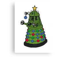A Dalek Christmas Canvas Print