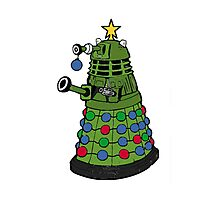 A Dalek Christmas Photographic Print