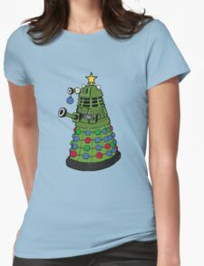 A Dalek Christmas Womens Fitted T-Shirt