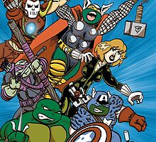 Teenage Mutant Ninja Avengers by psychoandy