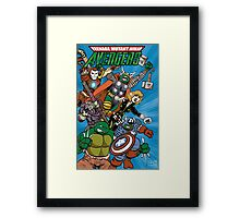 Teenage Mutant Ninja Avengers Framed Print