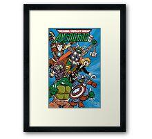 Teenage Mutant Ninja Avengers Framed Print