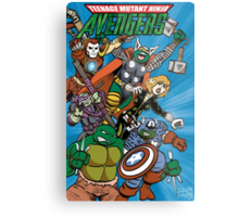 Teenage Mutant Ninja Avengers Metal Print