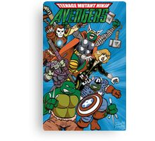 Teenage Mutant Ninja Avengers Canvas Print