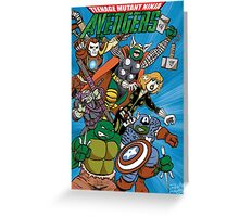 Teenage Mutant Ninja Avengers Greeting Card