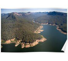 Lake Burragorang, from the air Poster