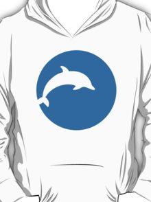 Blue dolphin moon T-Shirt