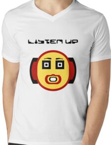 Listen Up Mens V-Neck T-Shirt