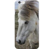 White Icelandic Horse iPhone Case/Skin