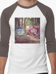 Broken Wall in Woods Men's Baseball ¾ T-Shirt