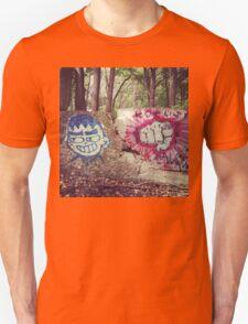 Broken Wall in Woods Unisex T-Shirt