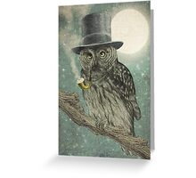 Night Smoke Greeting Card
