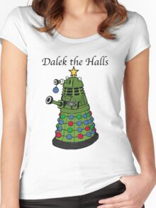 Dalek the Halls Women's Fitted Scoop T-Shirt