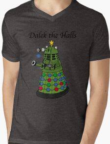 Dalek the Halls Mens V-Neck T-Shirt