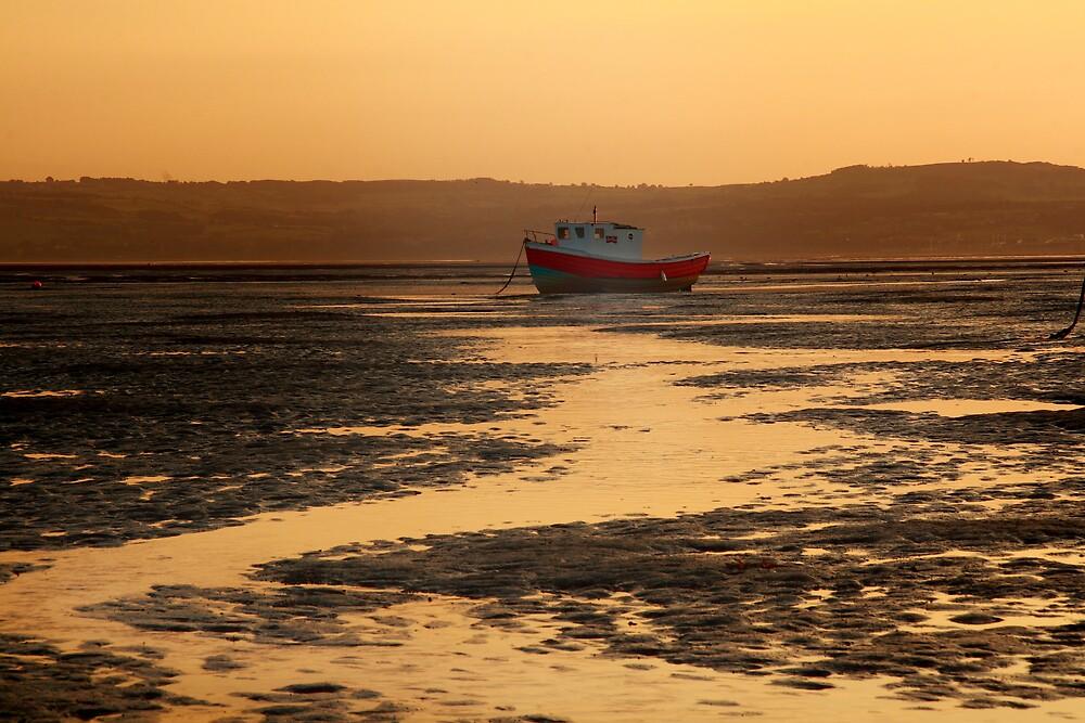 Sunset Boats 5 by Alan Hawkins