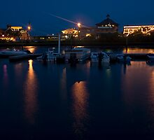 Cedar Key Waterfront at Night by Stacey Lynn Payne