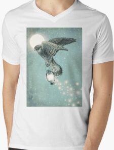 Nighthawk (portrait format) Mens V-Neck T-Shirt