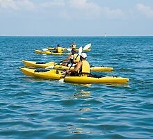 Kayaking on the Gulf of Mexico by Stacey Lynn Payne