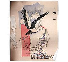Birthday Card Cover 1932 Poster