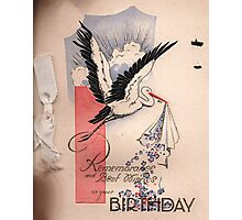 Birthday Card Cover 1932 Photographic Print