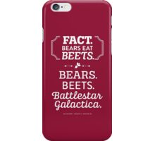 The Office Dunder Mifflin - Jim Halpert Bears. Beets. Battlestar Galactica. iPhone Case/Skin
