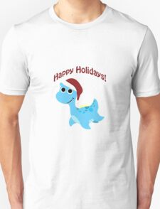 Happy Holidays! Santa Nessie Unisex T-Shirt