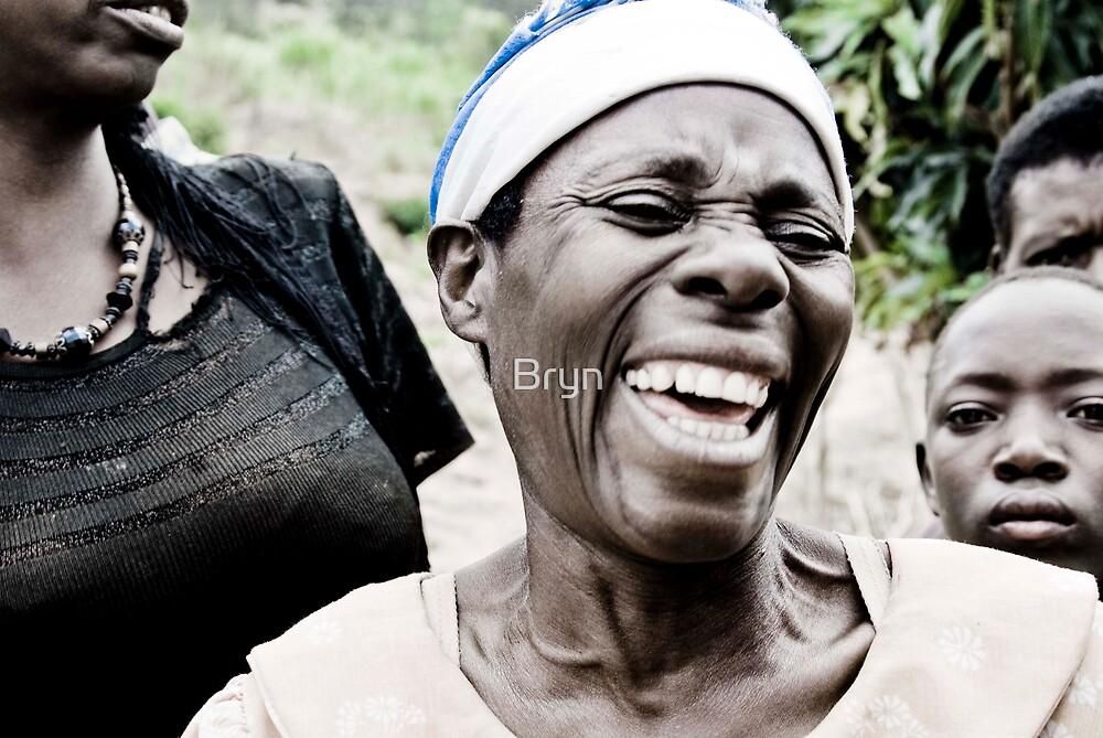 Laughing Woman - Rwanda by Bryn