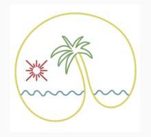 Neon Tequila Sunrise Design White One Piece - Long Sleeve