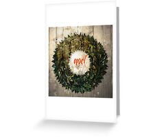 noel xmas wreath Greeting Card