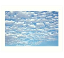 Beautiful fluffy clouds. Art Print