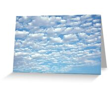 Beautiful fluffy clouds. Greeting Card