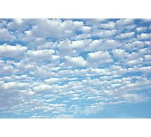 Beautiful fluffy clouds. Photographic Print