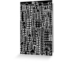 Cityscape Doodling #2 Greeting Card