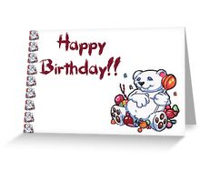 Happy Birthday Bear Greeting Card