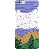 View of Freel Peak from Meyers, CA iPhone Case/Skin