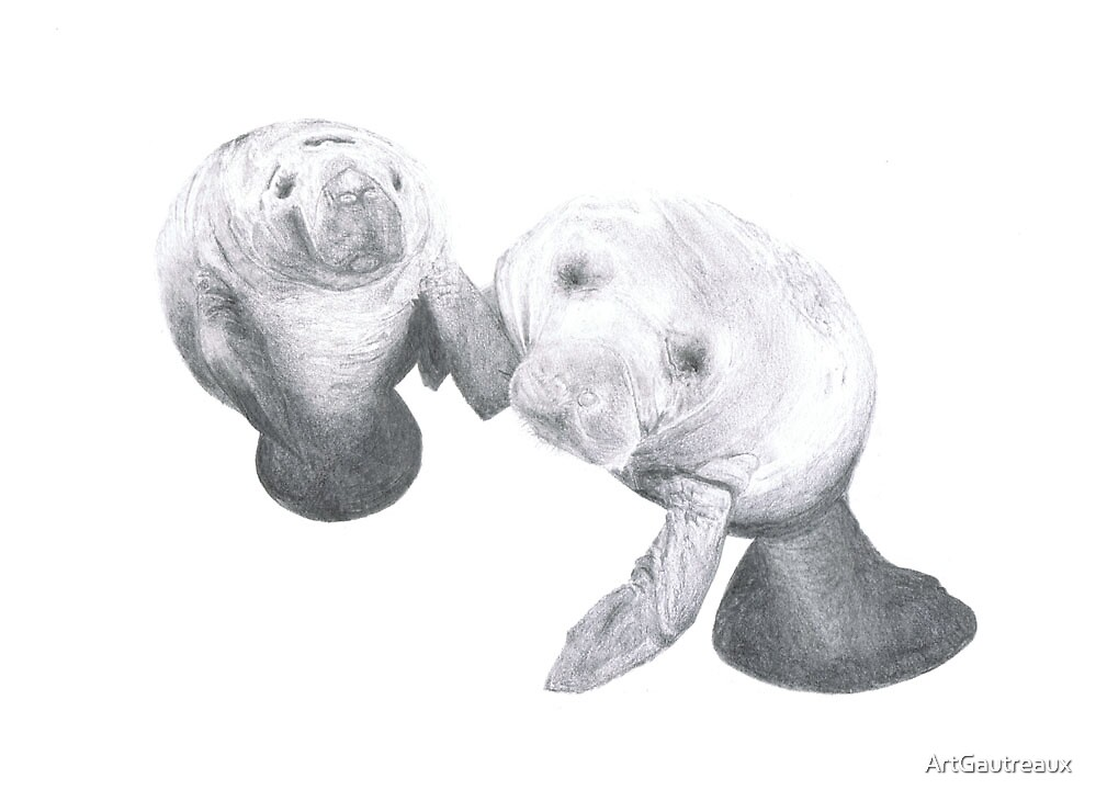 Together (Manatees) by ArtGautreaux