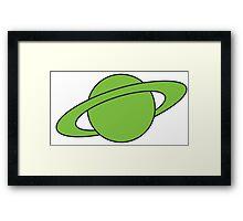 Mar-Vell Planet Framed Print